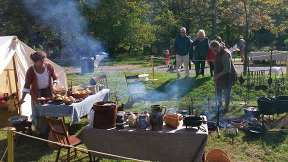 Heritage Day 2015: Doug Claytor demonstrates open fire cooking