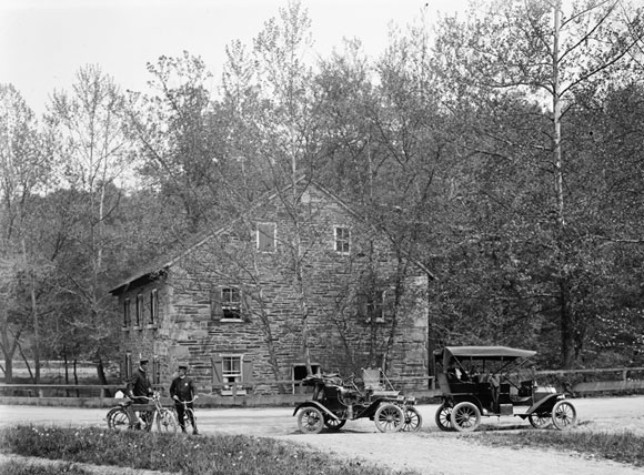 Peirce Mill, circa 1918 (Library of Congress).