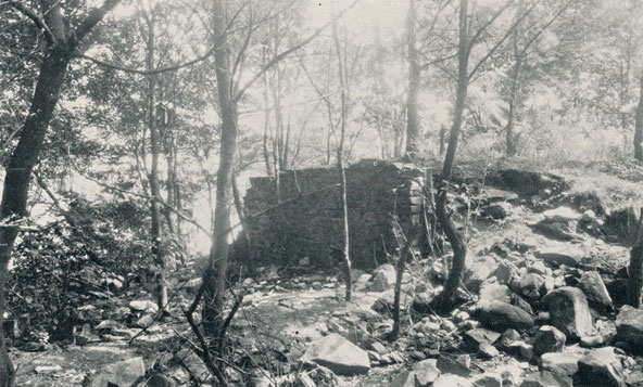 Ruins of Parrott's Mill in Georgetown, circa 1930.